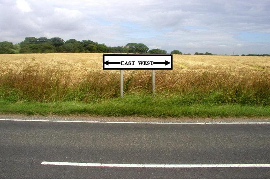 Image of East to West Sign