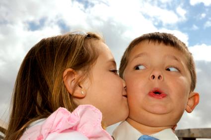 Mrs. Wrong--Kids kissing