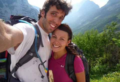 You carried my backpack for miles on this hike in the Alps (such a servant).