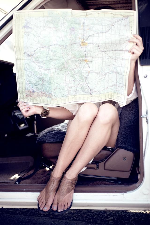 girl with a map