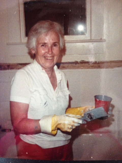my grandmother painting my nursery before I was born